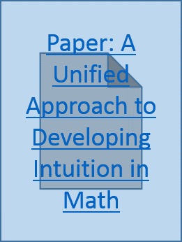 Paper A Unified Approach to Developing Intuition in Math
